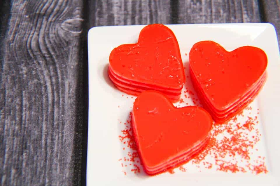Layered Jello Hearts - 1 Freestyle Point